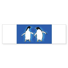 Dancing Penguins Rectangle Sticker (Bumper)