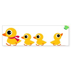 Distracted Duck Rectangle Sticker (Bumper)
