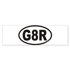 G8R Euro Oval Sticker (Bumper)