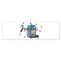 Jelly Bean Junkie Rectangle Sticker (Bumper)