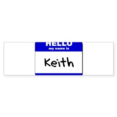 hello my name is keith Rectangle Sticker (Bumper)