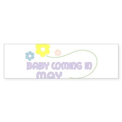 Due in May Rectangle Sticker (Bumper)
