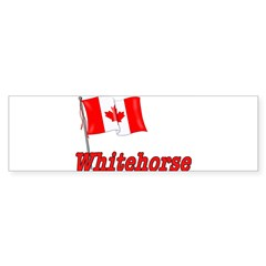 Canada Flag - Whitehorse Rectangle Sticker (Bumper)