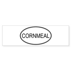 CORNMEAL (oval) Oval Sticker (Bumper)