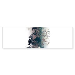 Pretty Buddha Rectangle Sticker (Bumper)
