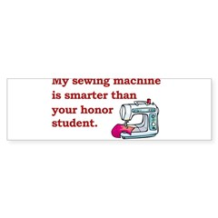 Sewing Machine/Honor Student Rectangle Sticker (Bumper)