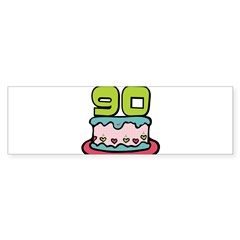 "90th Birthday Cake 3"" Lapel Sticker (48 pk) Sticker (Bumper)"