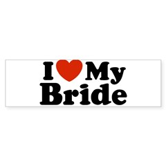 I Love My Bride Rectangle Sticker (Bumper)