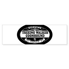 TREEING WALKER COONHOUND Oval Sticker (Bumper)