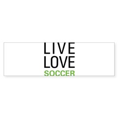 Live Love Soccer Rectangle Sticker (Bumper)
