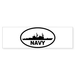 NAVY Destroyer Oval Sticker (Bumper)
