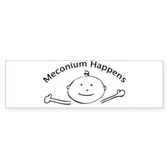 Meconium Happens Oval Sticker (Bumper)