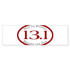 13.1 - Half the Distance Oval Sticker (Bumper)