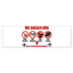 No Solicitors Rectangle Sticker (Bumper)