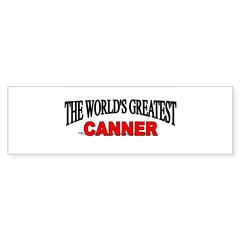 """The World's Greatest Canner"" Sticker (Rectangular Sticker (Bumper)"