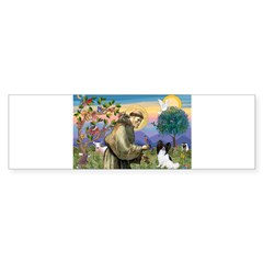 St Francis & Papillon Rectangle Sticker (Bumper)