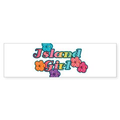 Island Girl Rectangle Sticker (Bumper)