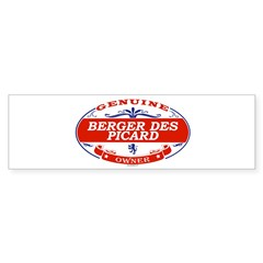 BERGER DES PICARD Oval Sticker (Bumper)