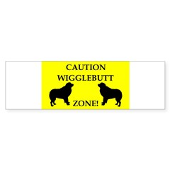 Wigglebutt Zone Sticker (Bumper)