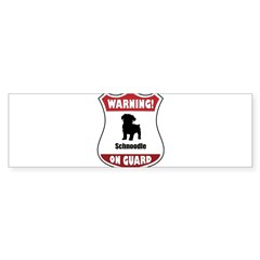 Schnoodle On Guard Rectangle Sticker (Bumper)