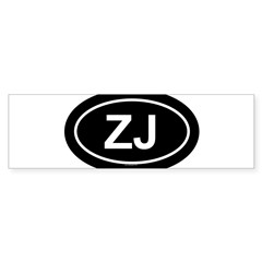 ZJ Oval Sticker (Bumper)