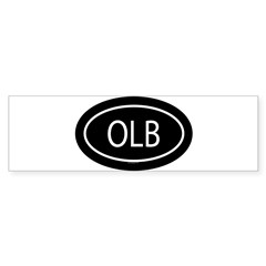 OLB Oval Sticker (Bumper)