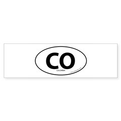 Colombia country bumper sticker -White (Oval) Sticker (Bumper)