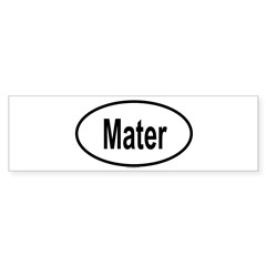 MATER Oval Sticker (Bumper)