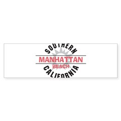 Manhattan Beach CA Sticker (Bumper)