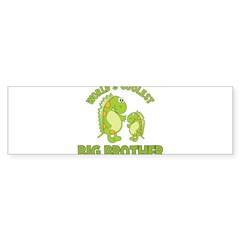 world's coolest big brother dinosaur Sticker (Bumper)
