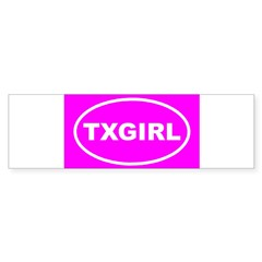 TX GIRL Pink Euro Oval Sticker (Bumper)