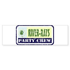 River Rat Rectangle Sticker (Bumper)