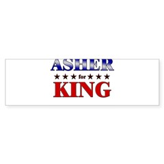 ASHER for king Rectangle Sticker (Bumper)