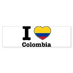 I love Colombia Rectangle Sticker (Bumper)