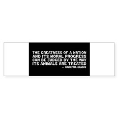 Quote - Greatness - Gandhi Rectangle Sticker (Bumper)