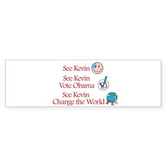See Kevin Vote Obama Rectangle Sticker (Bumper)