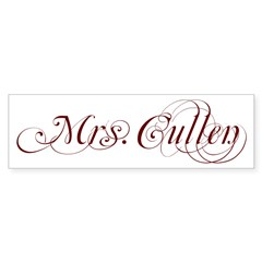 Mrs. Cullen Rectangle Sticker (Bumper)