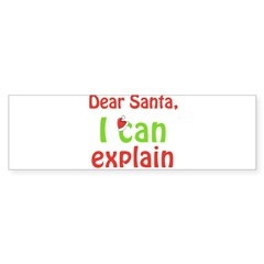 Santa I Can Explain Oval Sticker (Bumper)
