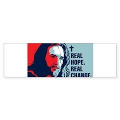 Real Hope. Real Change. Rectangle Sticker (Bumper)