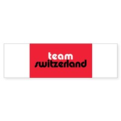 Team Switzerland Rectangle Sticker (Bumper)