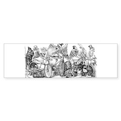 Calaveras en Bicicleta Rectangle Sticker (Bumper)