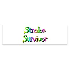 Stroke Survivor Sticker (Bumper)