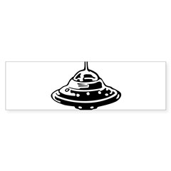 Flying Saucer Sticker (Bumper)