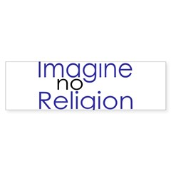 Imagine no Religion Rectangle Sticker (Bumper)