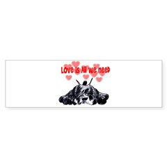 schnauzer love Sticker (Bumper)