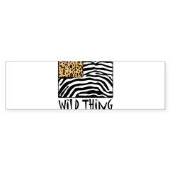 Cheetah & Zebra Wild Thing Sticker (Bumper)