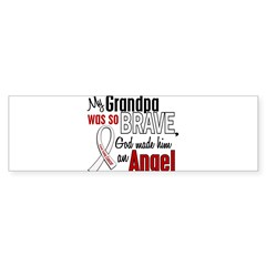 Angel 1 GRANDPA Lung Cancer Rectangle Sticker (Bumper)