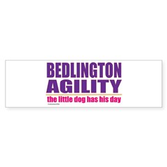 Bedlington Terrier Agility Sticker (Bumper)