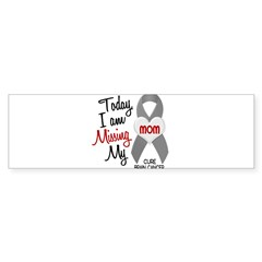 Missing 1 Mom BRAIN CANCER Oval Sticker (Bumper)