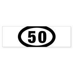 50 mile Ultrarunning Sticker (Bumper)